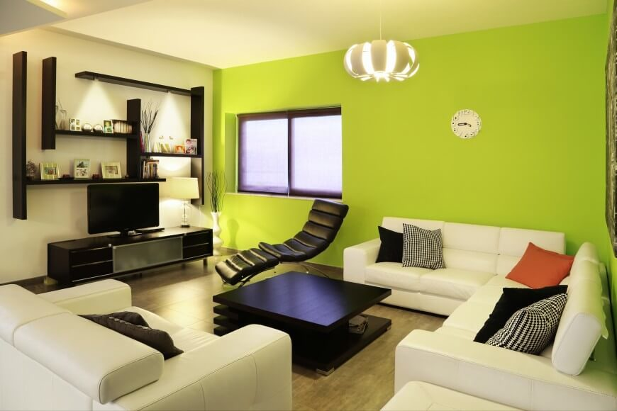 33 luxurious living rooms by top designers worldwide - Home interior wall color contrast ...