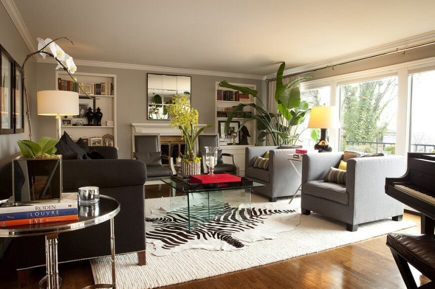 Living Room Ideas Zebra zebra rug room ideas. animal rugs for living room homegrownherbal