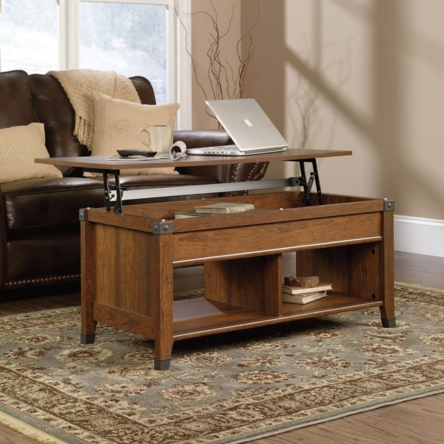the timeless appearance of this lift top coffee table is at least partly due to its