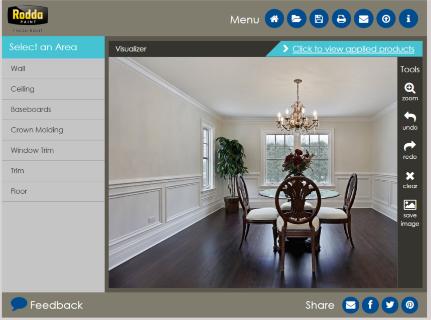 The best free virtual paint color software online 5 options for Interior paint color visualizer