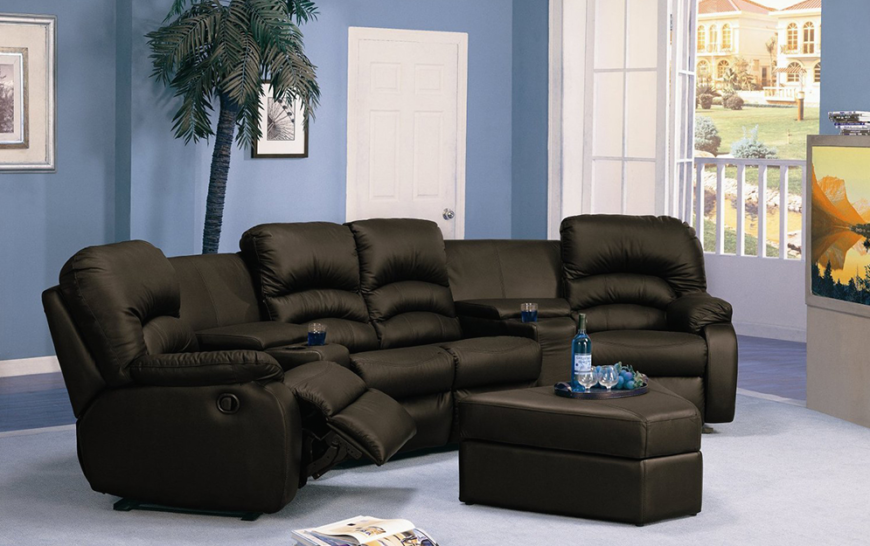 Top 21 types of home theater recliners and chairs for Sectional sofa wedge table