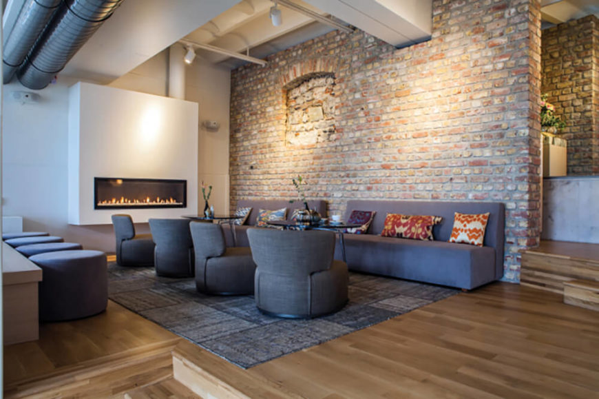 Once dismissed as pass  and grungy  living spaces inside of refurbished  buildings has revitalized many. 38 Beautiful Living Rooms with Exposed Brick Walls