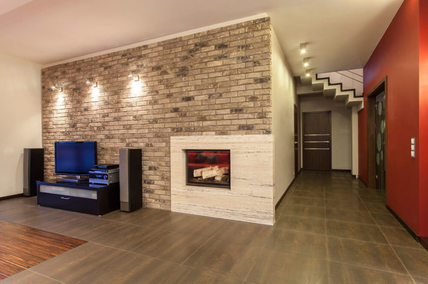 Brick And Fireplaces Go Together Well, Primary Due To Bricku0027s High Heat  Tolerance. In