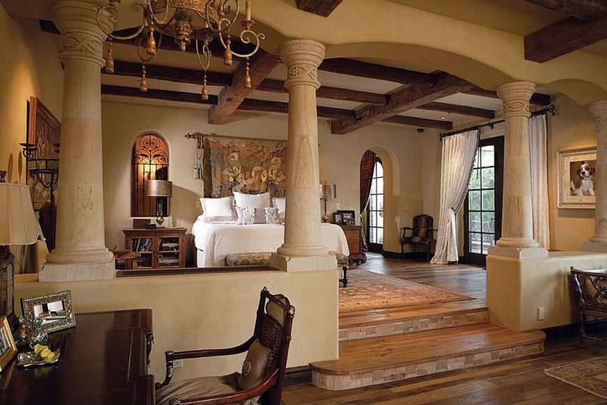 Bedroom Sets With Pillars bedroom sets with pillars fabiana traditional poster canopy