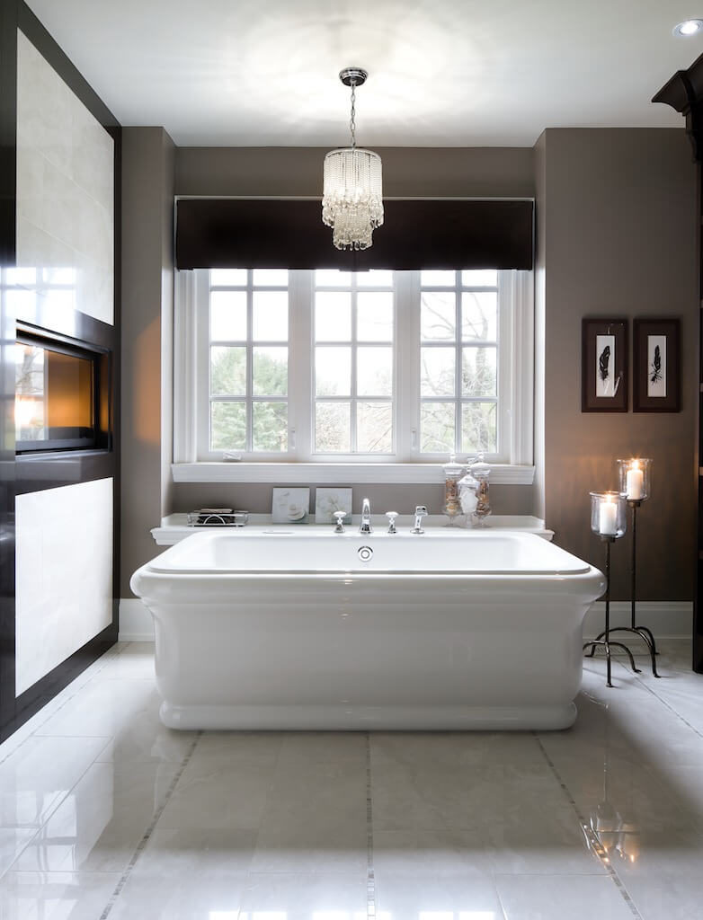 Bespoke Bathrooms With Glittering Chandeliers - Small chandeliers for bathroom