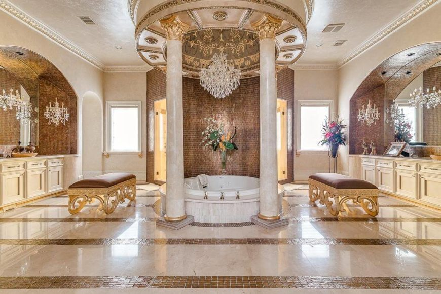 41 Bespoke Bathrooms with Glittering Chandeliers – Stand Up Chandelier