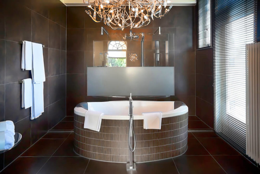 Modern Bathroom Chandeliers 41 bespoke bathrooms with glittering chandeliers | home stratosphere
