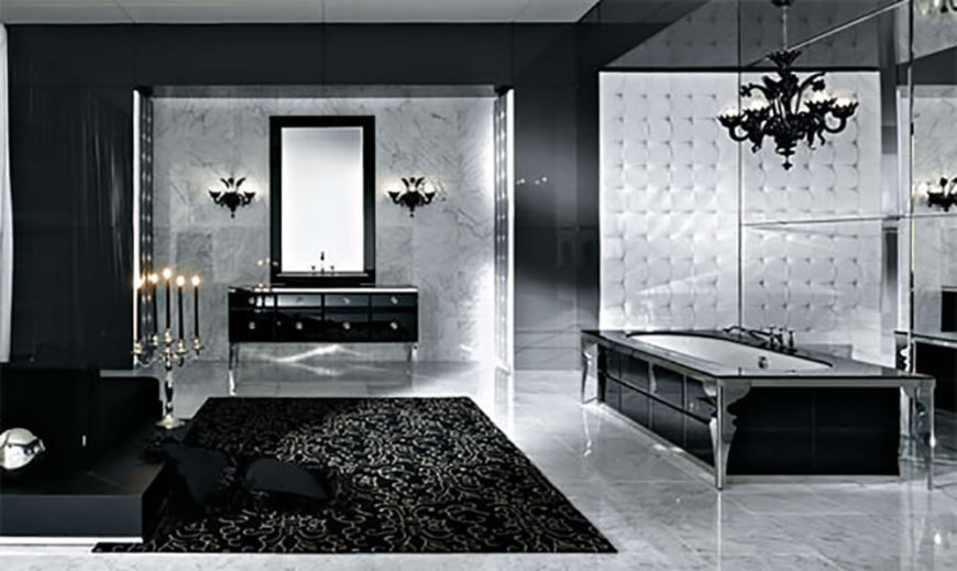 Bathroom Chandeliers Black 41 Bespoke Bathrooms With Glittering Chandeliers