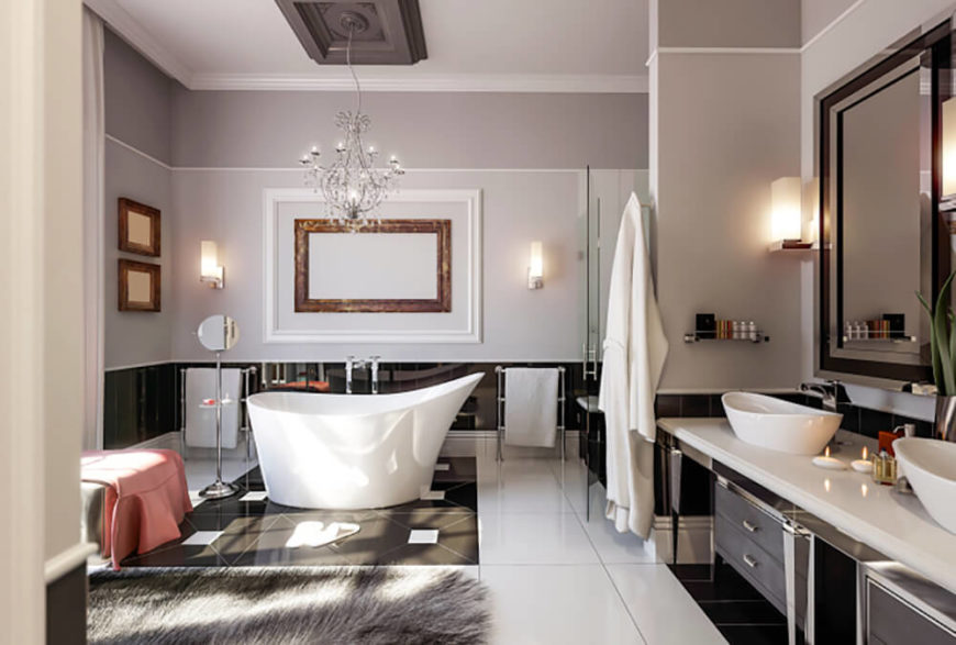 Bathroom Tub Chandeliers 41 bespoke bathrooms with glittering chandeliers