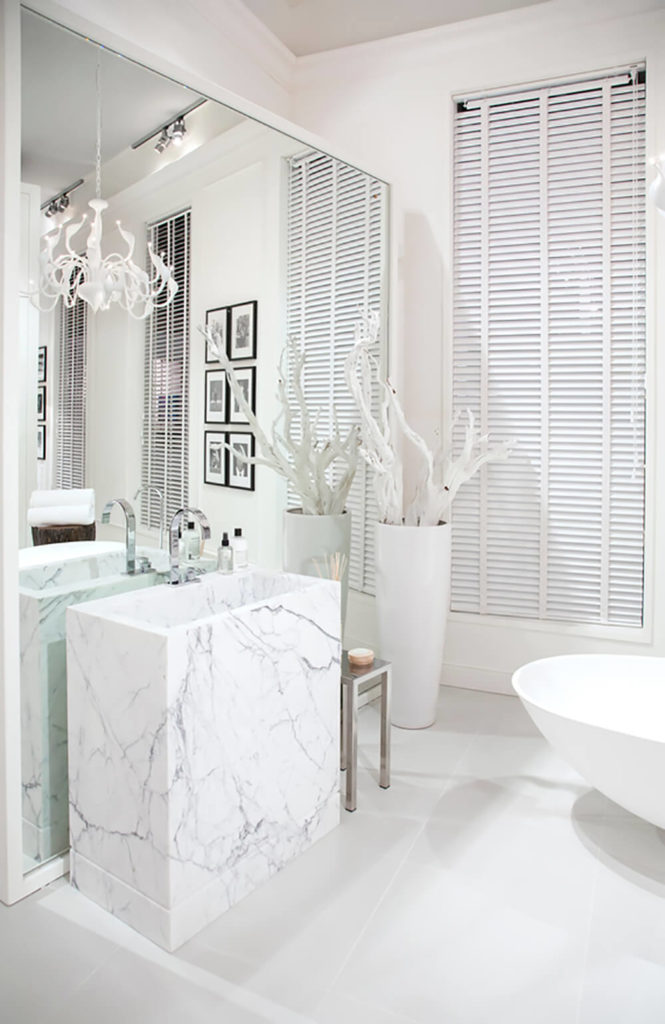 bespoke bathrooms with glittering chandeliers, Home decor