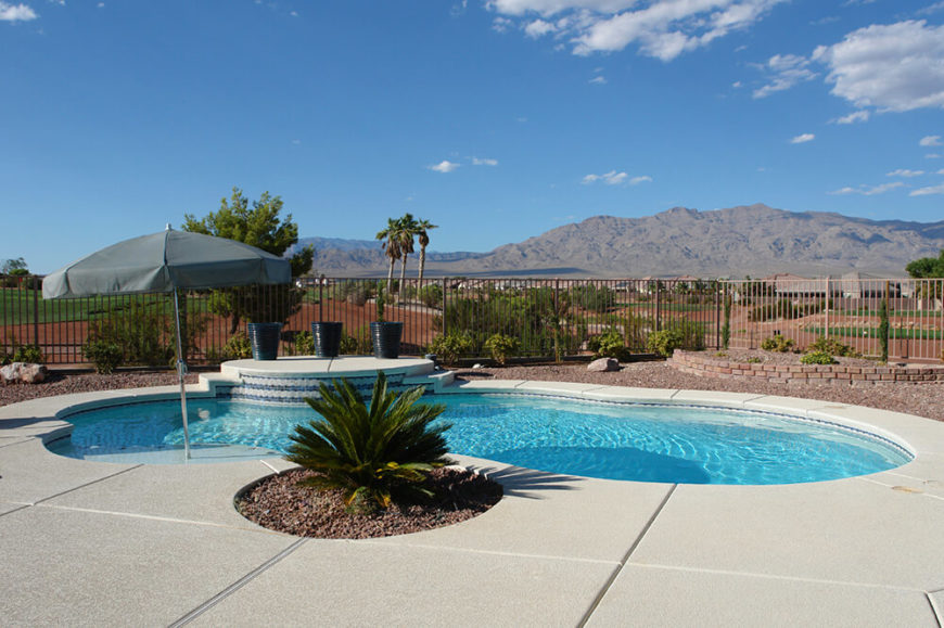 Another Lovely Desert Pool, Offering A Refreshing Break From The Arid  Surroundings. The Smooth