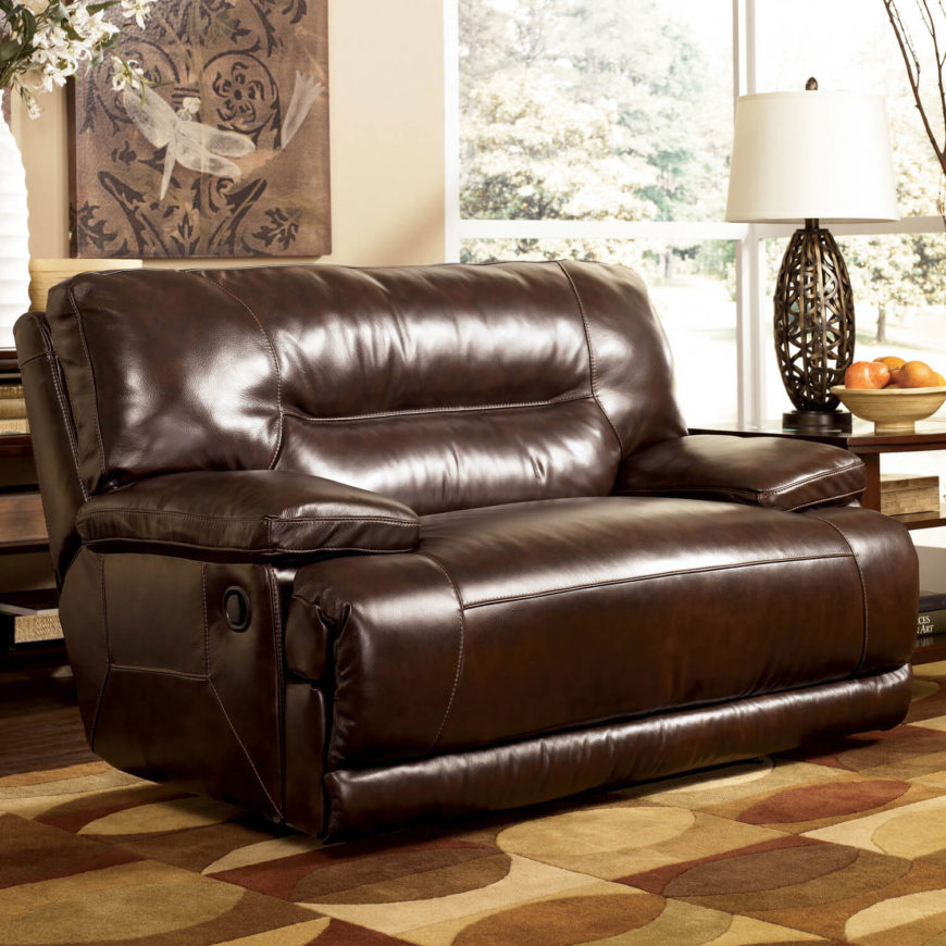 25 best man cave chairs for Big comfy leather chair