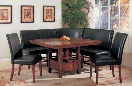 corner dining room furniture. The Most Unique Feature Of This Corner Dining Set Is Rich Wood Table With Built Room Furniture