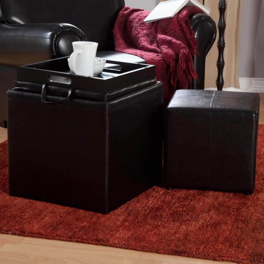The Jameson ottoman is the perfect solution for a modestly sized space in  need of storage