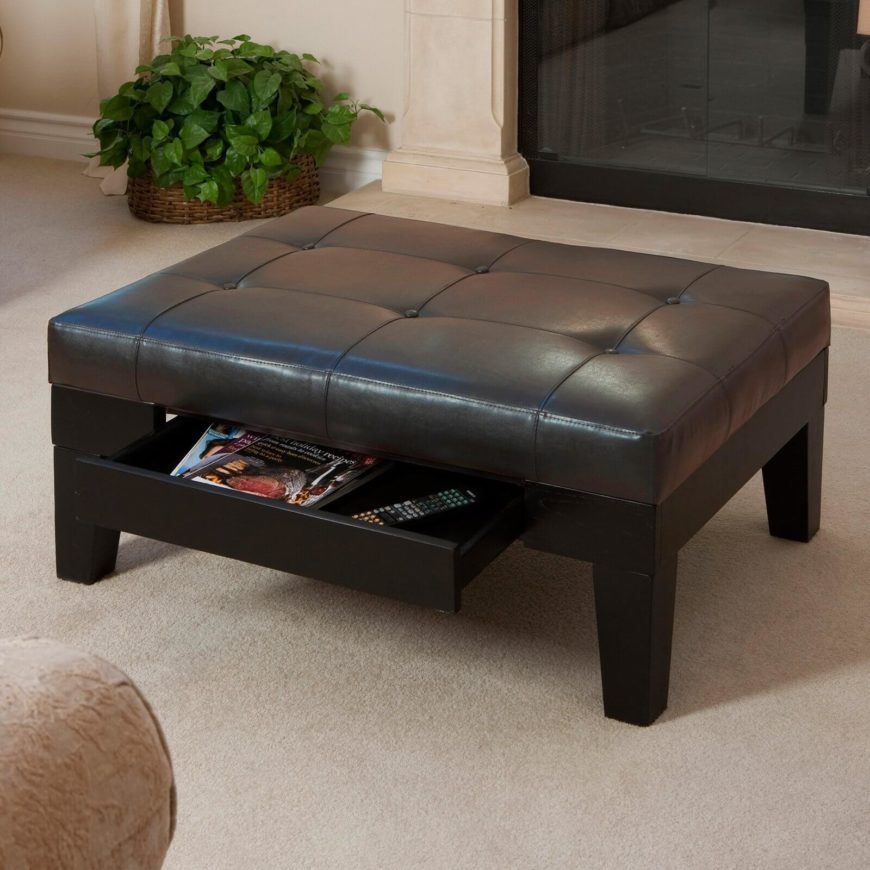 Man Cave Ottoman : Fantastic ottomans for man caves put your feet up
