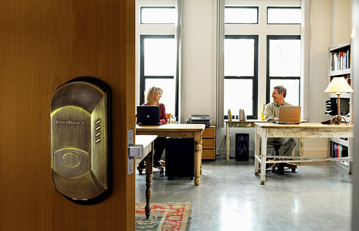 This elegantly handsome indoor/outdoor smart home lock features a fingerprint accessed deadbolt with both passcode and manual key override. It's perfect for locking up a specific room in your home or the home itself, right at the front door. You can have complete control over who has access and at what times, saving up to 99 individual user fingerprints and tracking when its used. It can be found in four different finishes, to best suit your home's style.