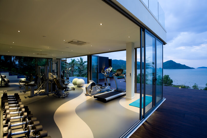 luxury home gym and yoga studio - Home Yoga Room Design