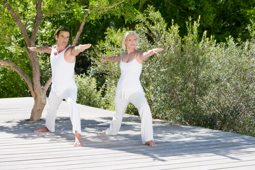 Yoga on large sun deck