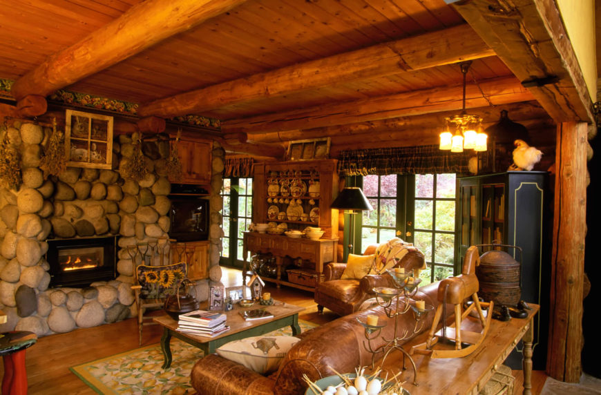 Rustic Design Ideas rustic decorating rustic home decor ideas Various Antiques Adorn This Cozy Space Making It Feel Very Homey And Welcoming The