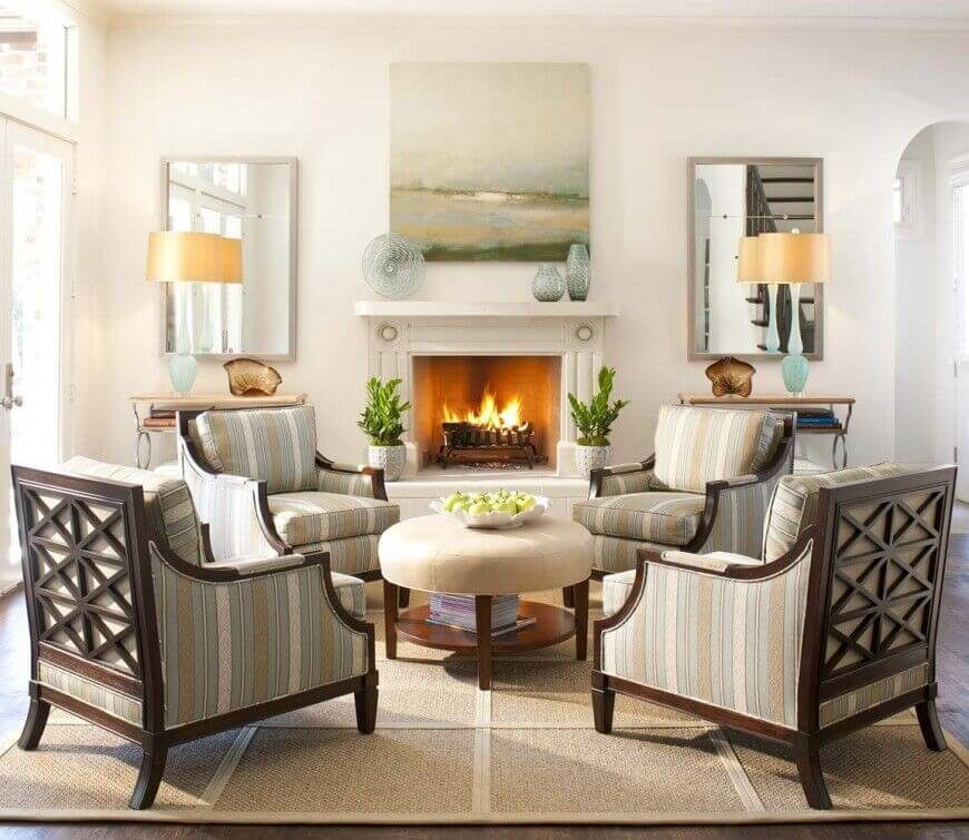 Gorgeous Country Living Room Ideas - Family room chairs furniture