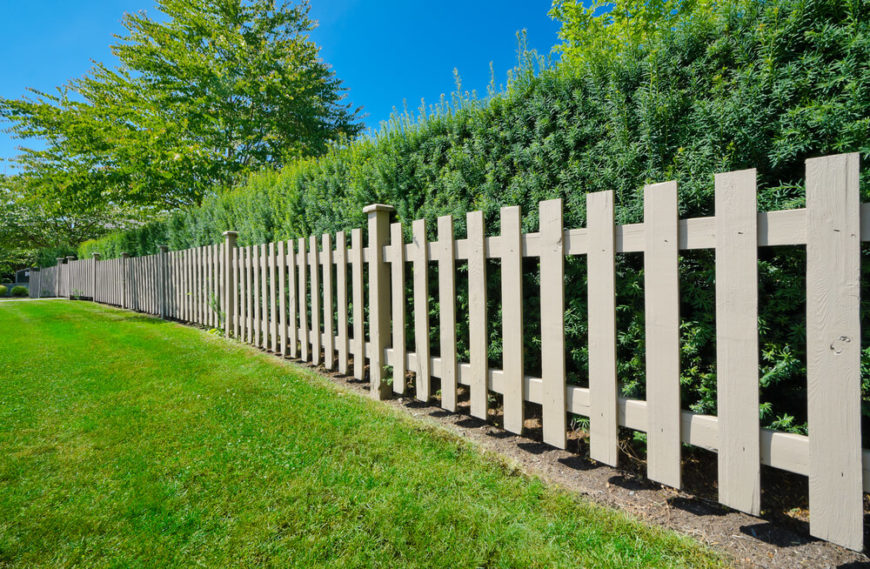 A simple picket fence may be all you need, particularly if it's backed by a thick hedge for privacy!