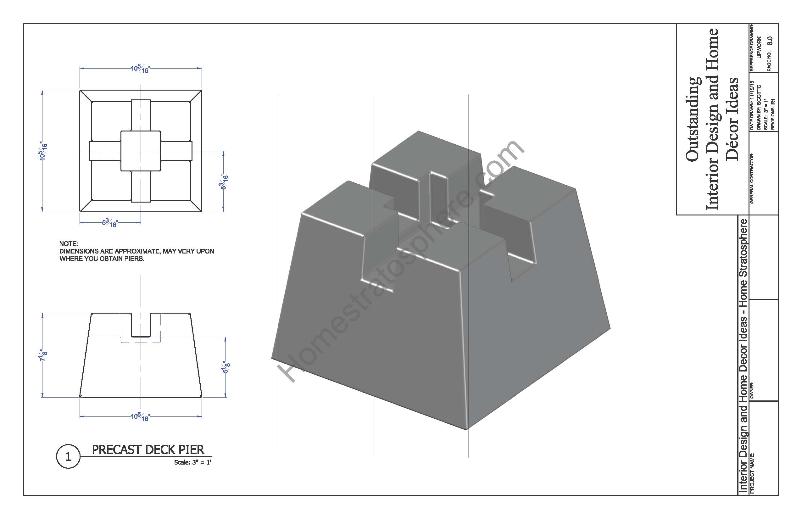 Free ground flat deck plan with pdf blueprint download for Ground level deck plans pdf