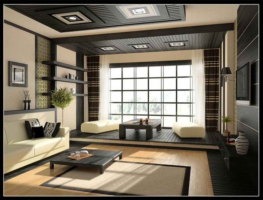 asian living room source zillow digsa this simple and modern asian design incorporates low furniture and lattice design over the windows