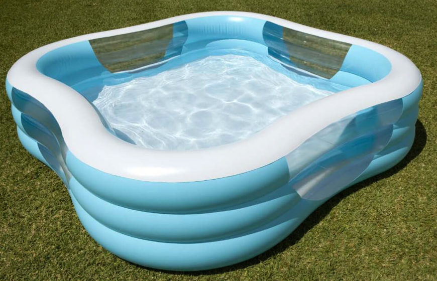 Superb This Is A Nice Blue And While Inflatable Pool. This Pool Is An Easy One
