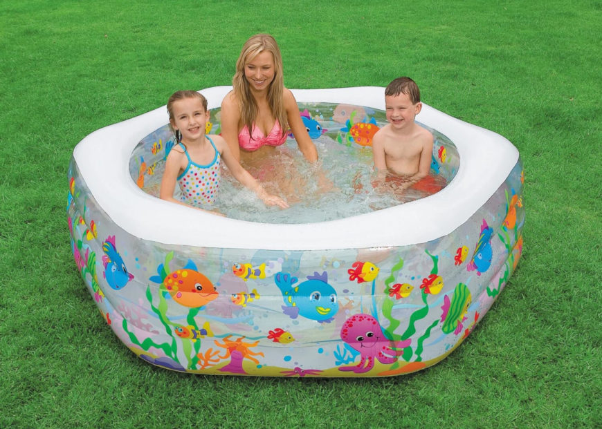 This Is A Smaller Diameter Inflatable Pool With A Fun Sea Life Pattern,  Making This