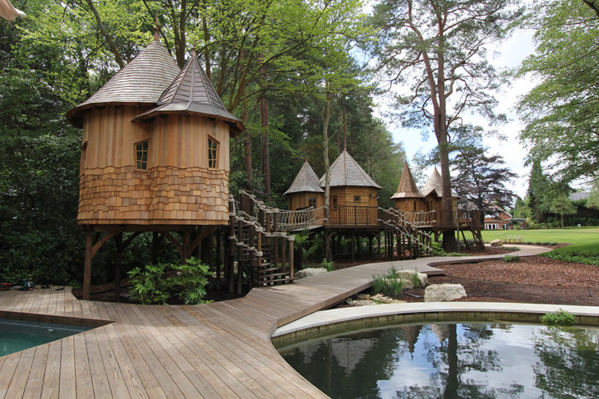 custom fantasy treehouses at the water s edge by blue forest