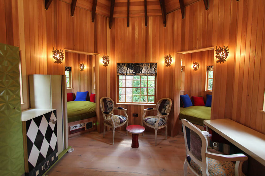 Custom fantasy treehouses at the water 39 s edge by blue forest for Inside treehouse ideas