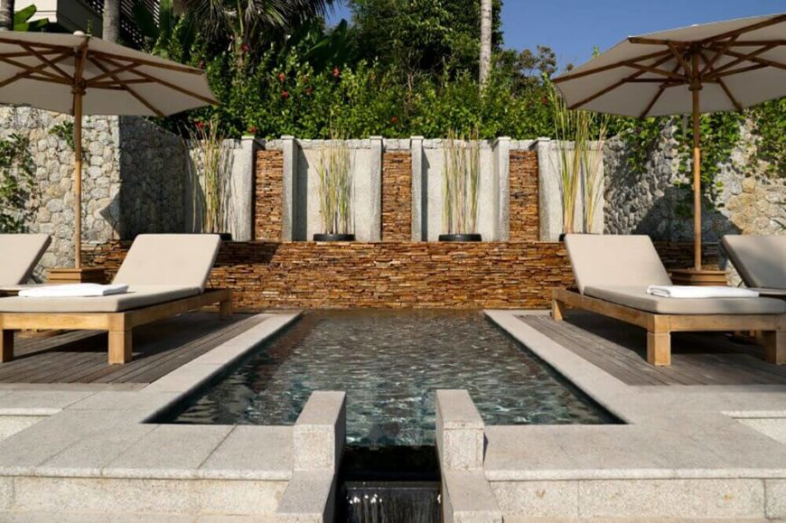 this is a perfect plunge pool between two seating areas the way this is