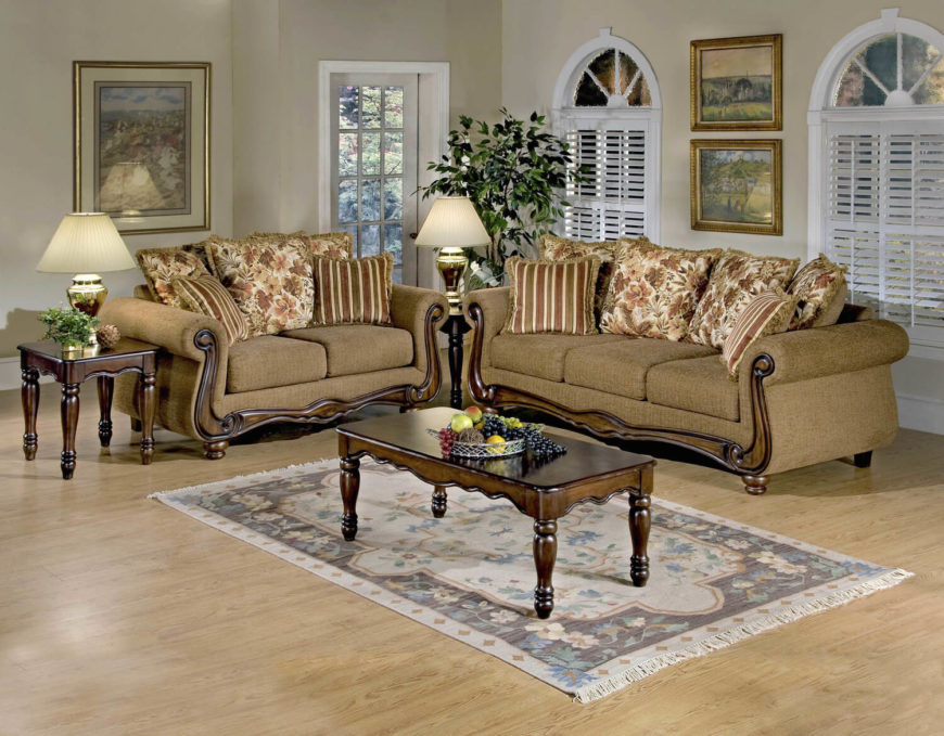 Traditional Living Room Furniture Part - 50: This Wonderful Traditional Living Room Is A Great Example Of A Traditional  Design, With Sturdy
