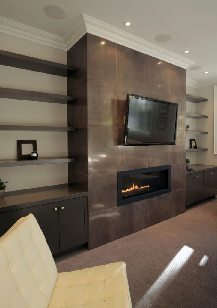 Simple Dark Shelves Develops And Adds More Rich Tones To The Room There Is