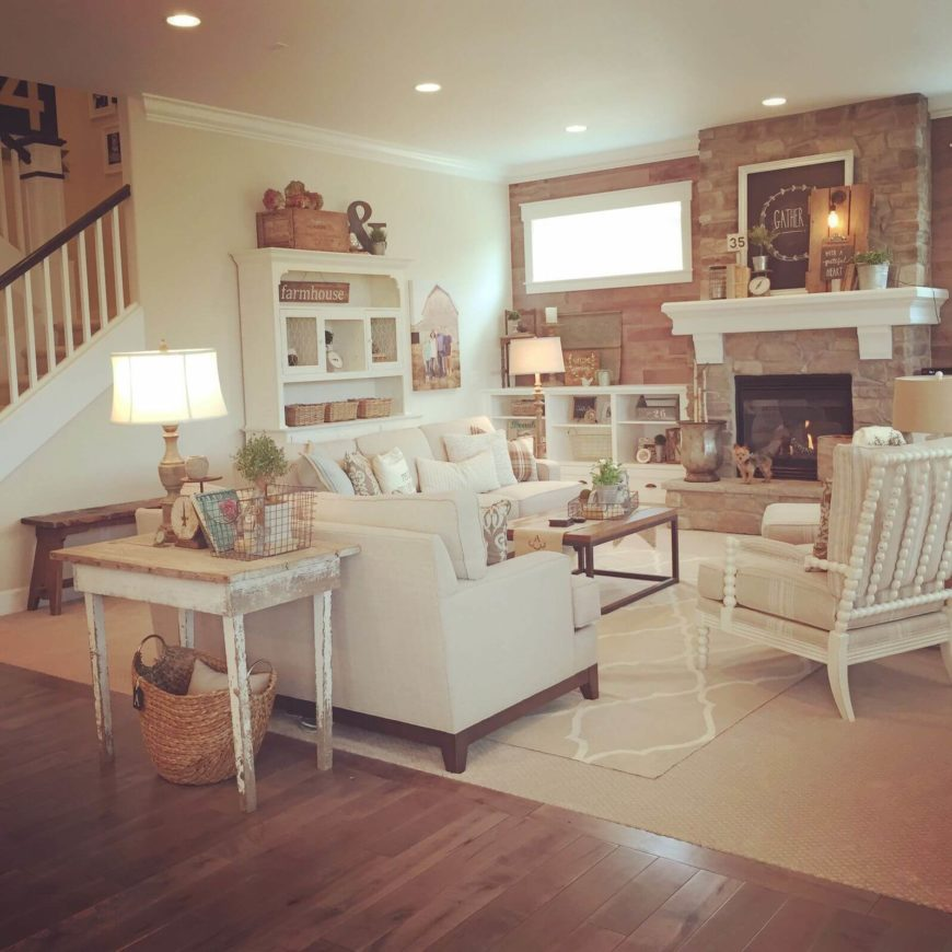 20 marvelous shabby chic living room ideas d coration de - Shabby look wohnzimmer ...