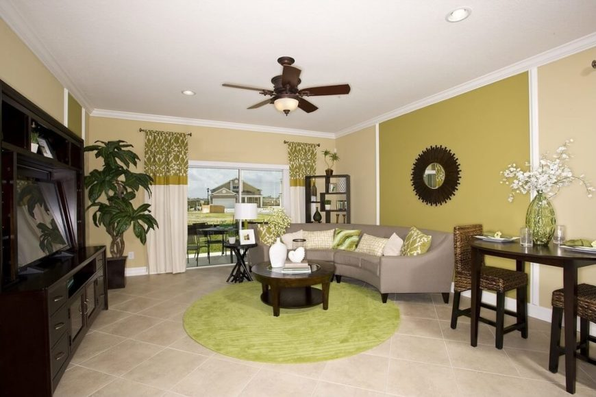 This Room Uses A Number Of Different Shades And Hues Of Green To Create A Great