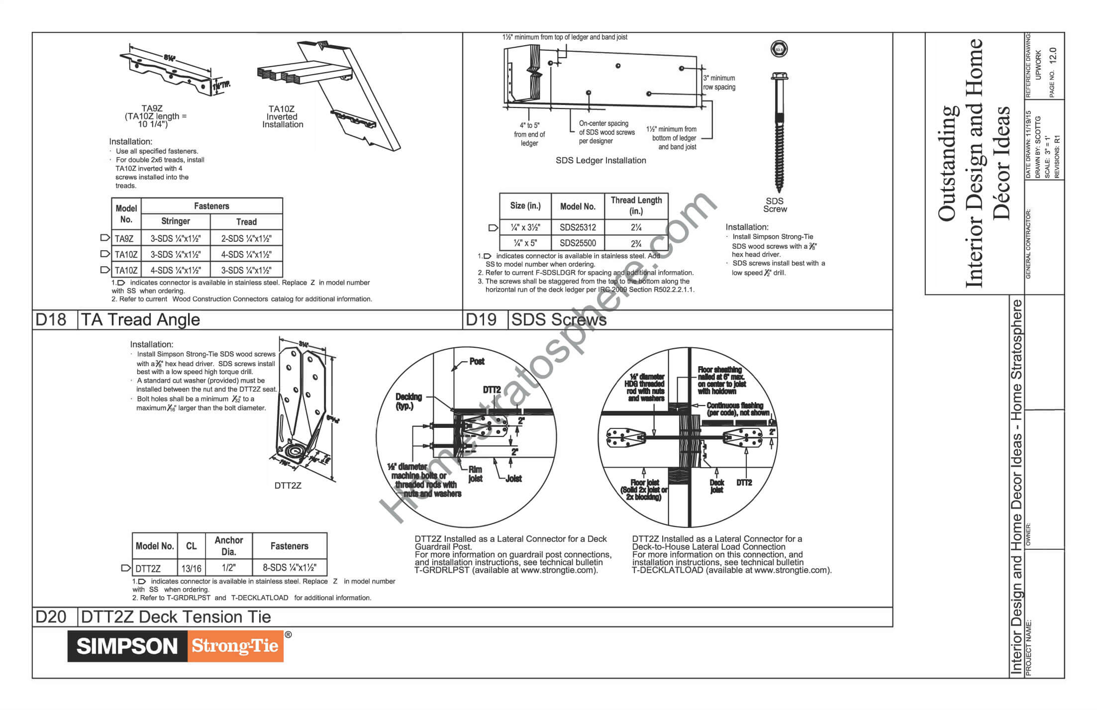 Built In Bench Plans Part - 31: General Notes, Materials And Checklists For Deck Design 6