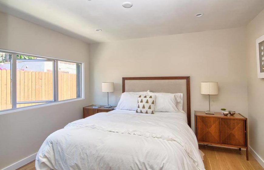 "Opening the window during the showing helps chase away any ""house-whiff"" you may have accumulated and helps set a relaxing atmosphere in a bedroom."