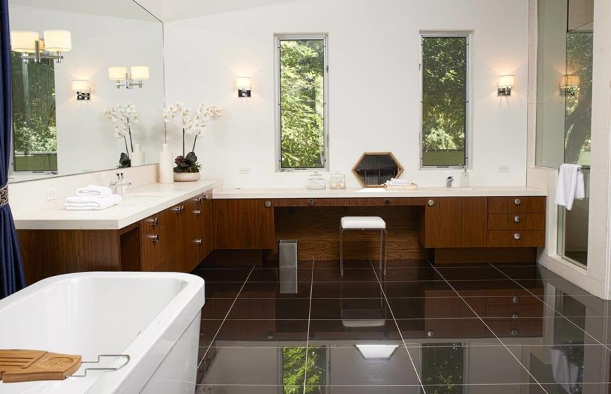 here is a lovely example of a staged bathroom the clean counters and the white