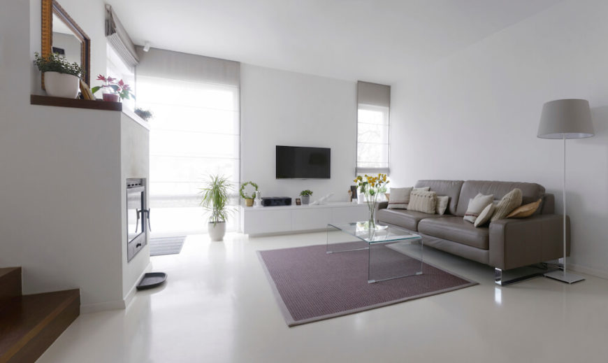 This Living Room Is Very Sleek, With A Modern And Clean Design. The Floor Part 67