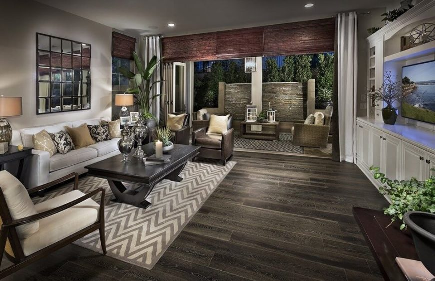 22 stunning living room flooring ideas for Wood flooring ideas for living room
