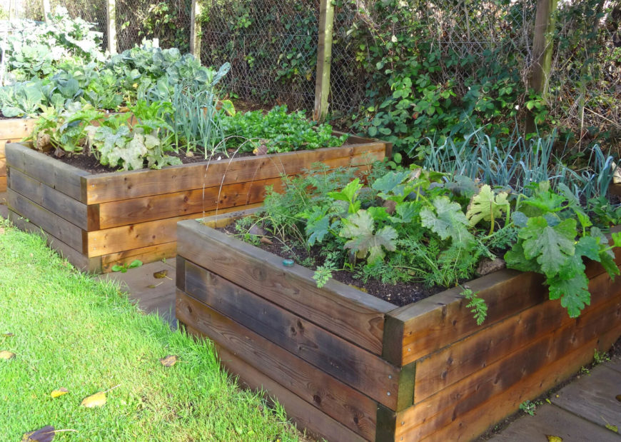 41 backyard raised bed garden ideas for Garden designs with raised beds
