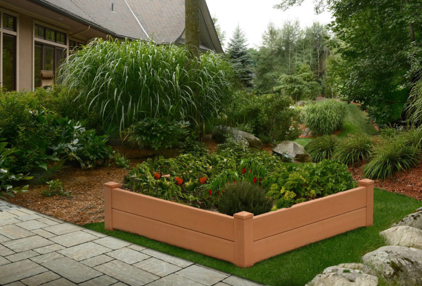 Above Ground Garden Ideas gardening layout archives page 10 of 10 gardening living Here Is A Plastic Prefabricated Raised Flower Bed These Are Great If You Don