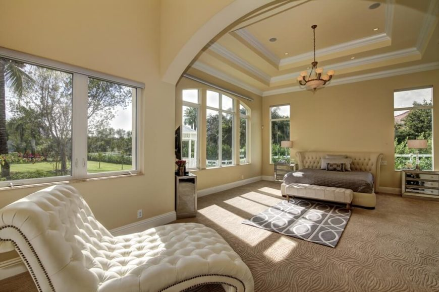 Tray ceiling living room