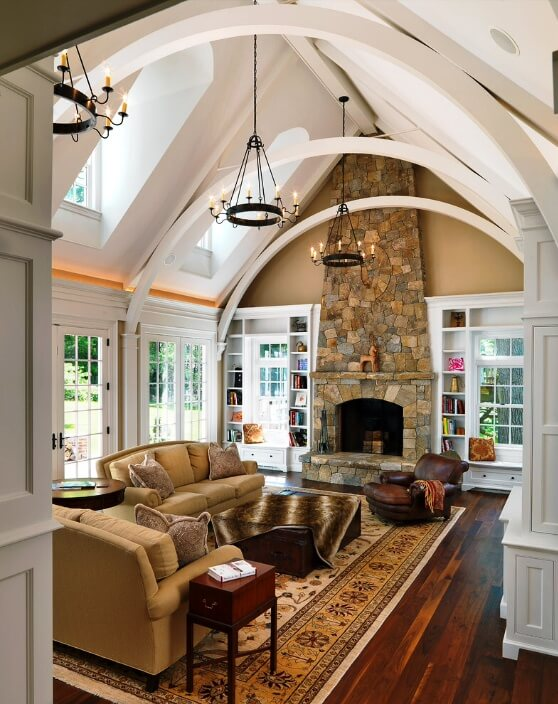 Vaulted Ceiling With Flat Center