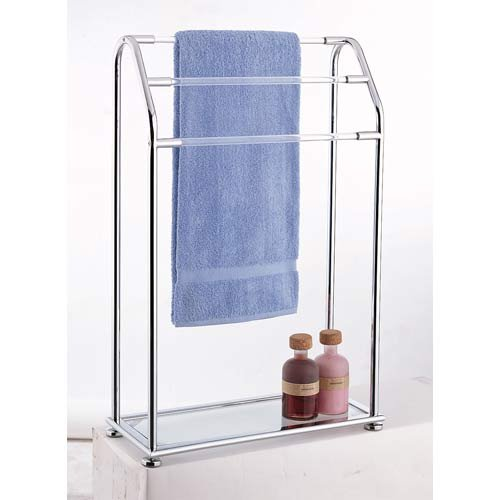 Acrylic Silver Contemporary Freestanding Quilt Stand