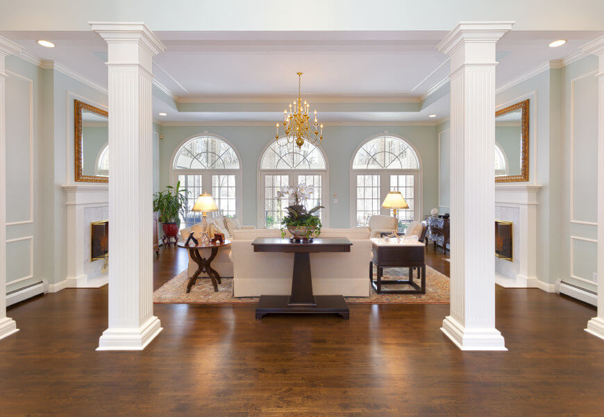A Tray Ceiling Gives Room Sense Of More Space There Are Many Things