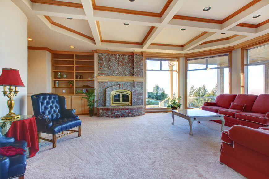 Coffered Ceilings Give Rooms An Interesting Visual Appeal They Provide Texture And Depth Using
