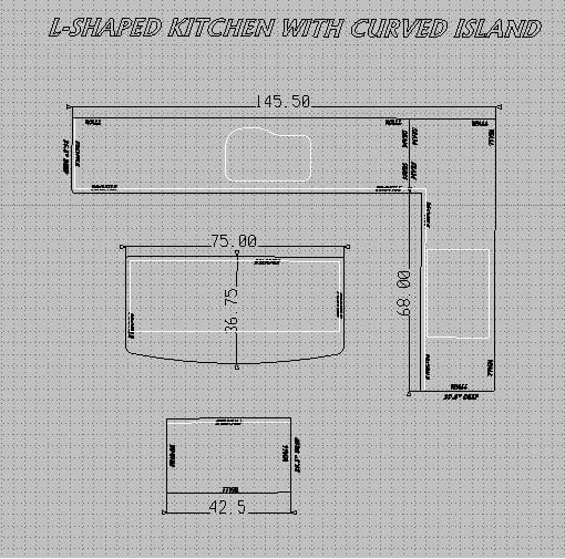 L Shaped Kitchen Drawings: 21 Granite Countertop Ideas (Ultimate Granite Guide