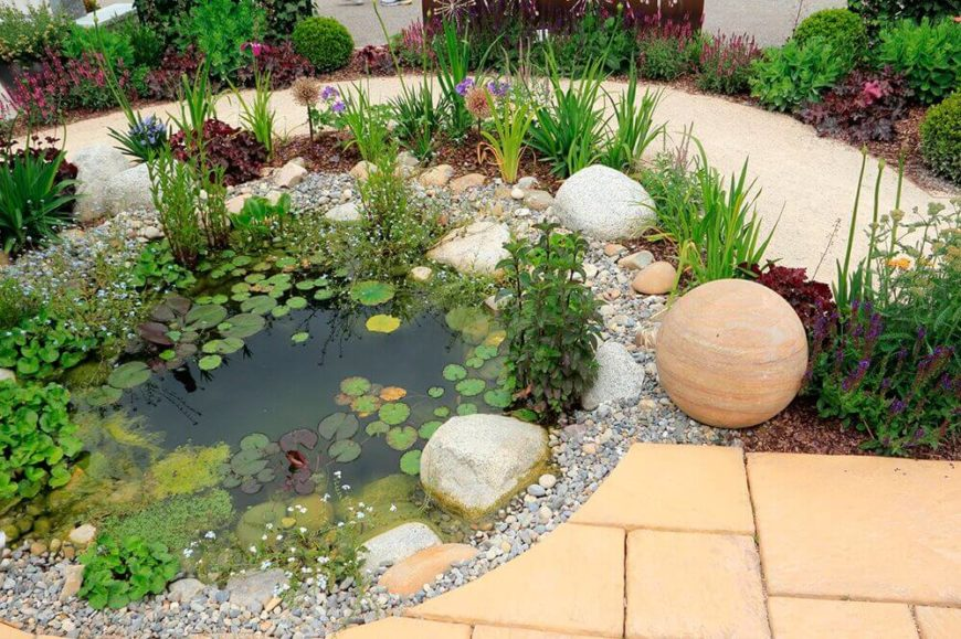 32 backyard rock garden ideas for Rock ponds designs